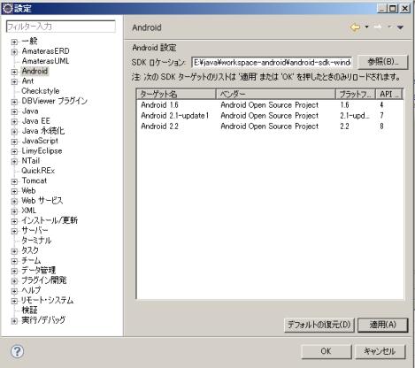 Android SDKのインストールと設定(WindowsのZip版)